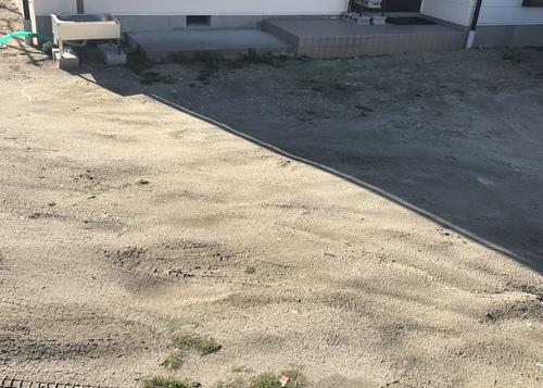安曇野 玄関前アプローチ コンクリート 工事前